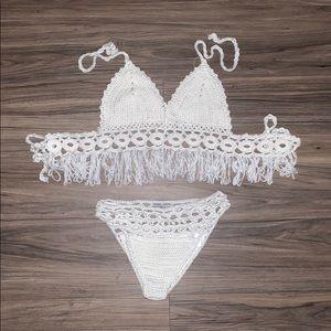 White Crochet Fashion Nova Bathing Suit